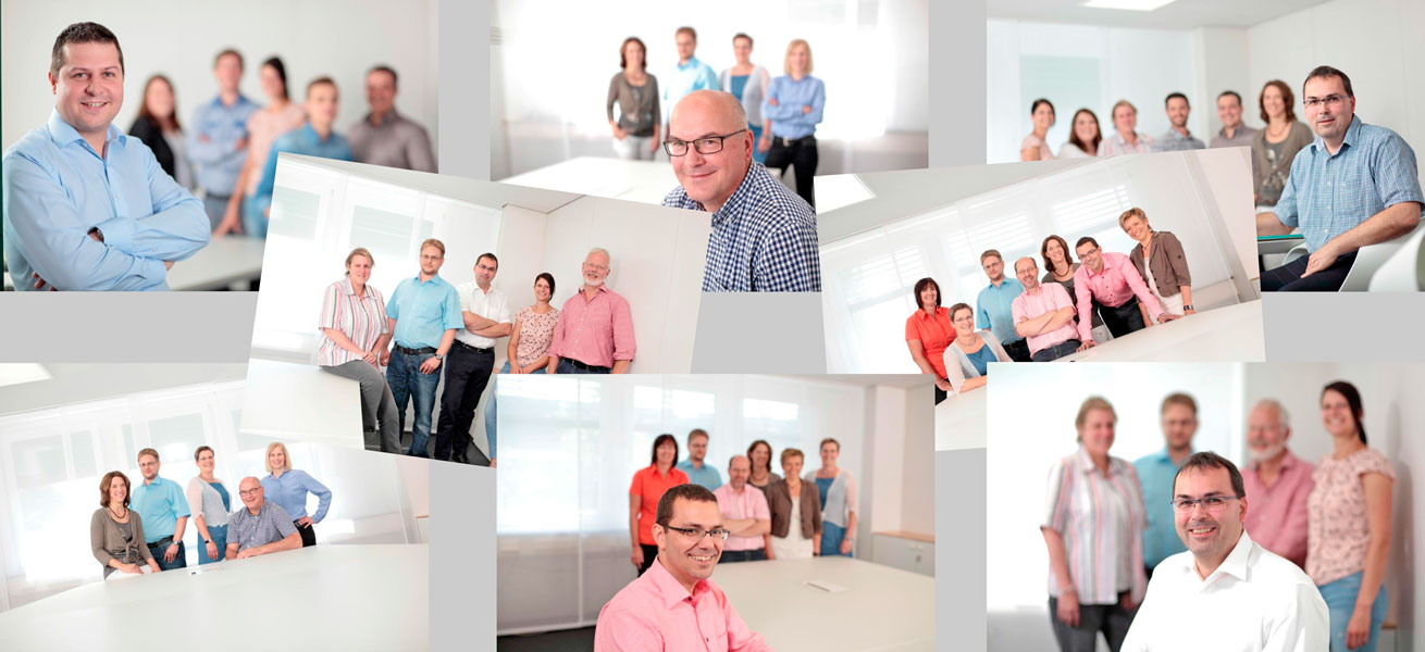 Fotocollage der Ingenieurteams